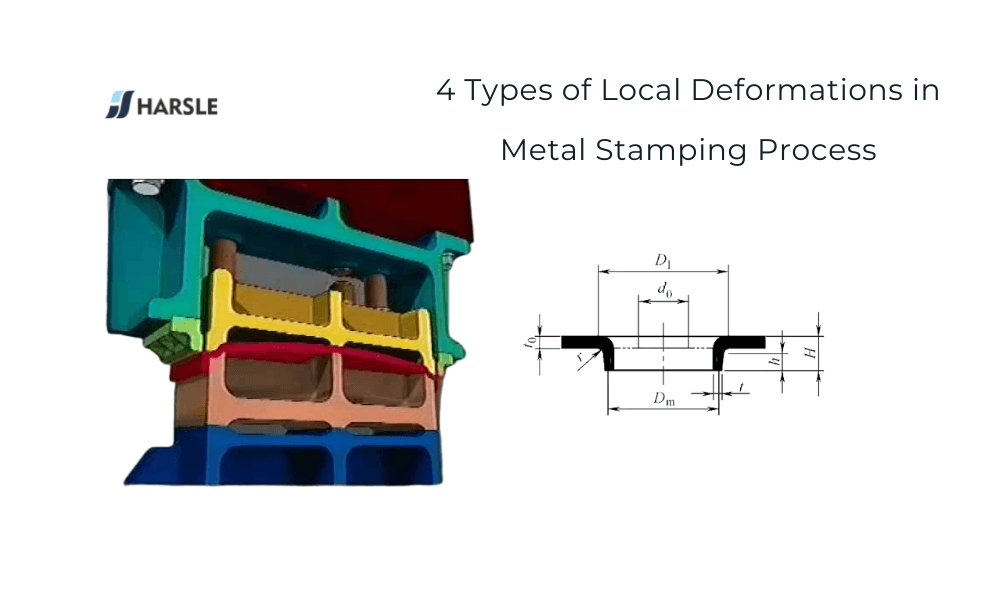 4 Types of Local Deformations in Metal Stamping Process