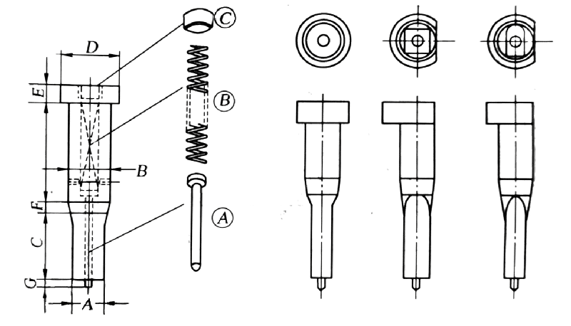 Fig. 1-2 Punch With Ejection Pin